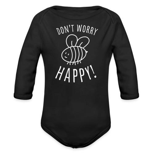 Süßes Kinder T-Shirt mit Biene. - Baby Bio-Langarm-Body