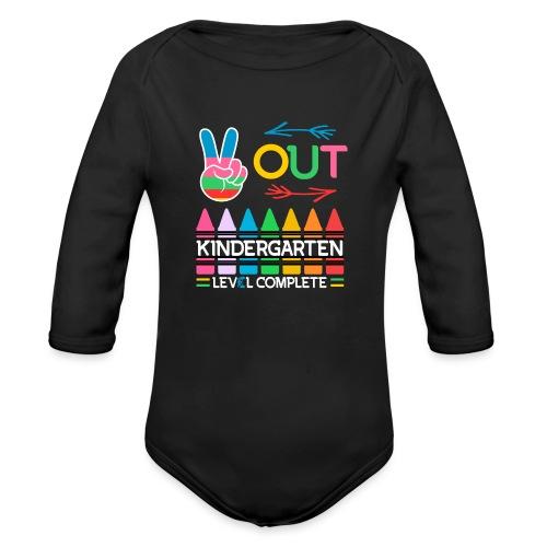 Peace Out Förskolan Färdig Med Denna Nivå Klar - Ekologisk långärmad babybody