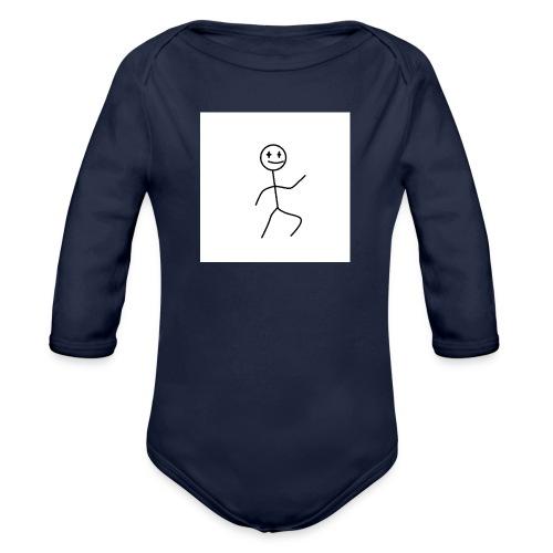 stick man t-shirt dance 1,0 - Langærmet babybody, økologisk bomuld