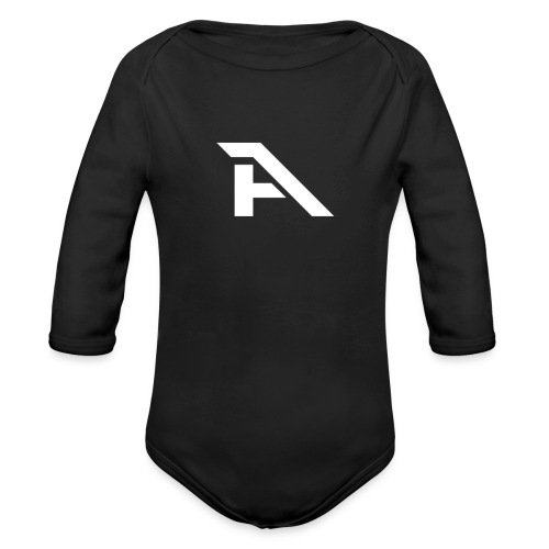 Aura Logo-(P. & White) - Body ecologico per neonato a manica lunga