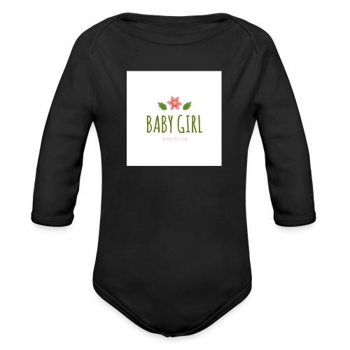 Baby Girl - Baby bio-rompertje met lange mouwen