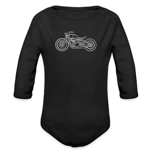 bonneville bobber Motorbike - Body Bébé bio manches longues