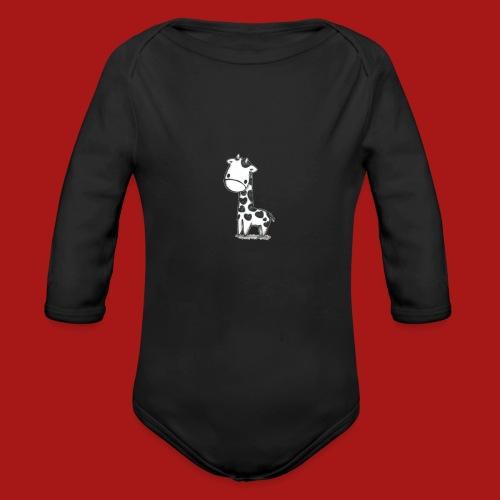 CuteBaby Giraf - Langærmet babybody, økologisk bomuld