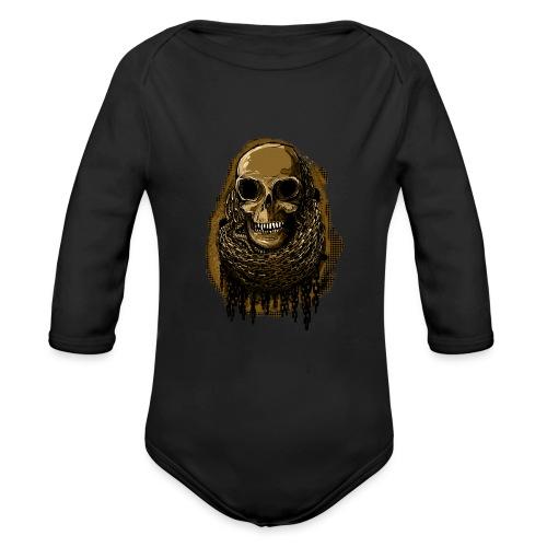 Skull in Chains YeOllo - Organic Longsleeve Baby Bodysuit