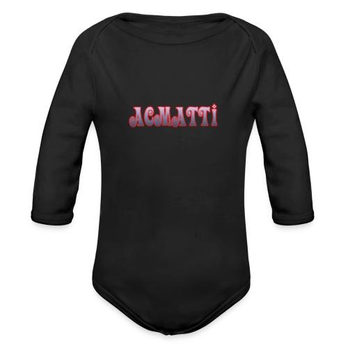ACMATTI farverig - Langærmet babybody, økologisk bomuld