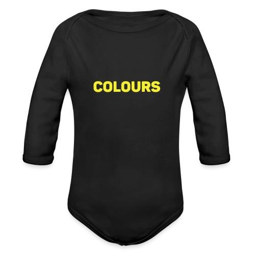 COLOURS - Body orgánico de manga larga para bebé