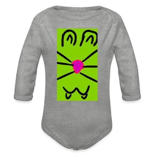 Gato :3 - Body orgánico de manga larga para bebé