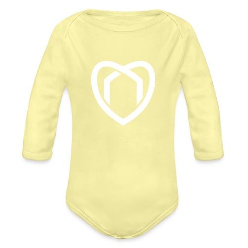 Blaue Haus Logo Herz - Baby Bio-Langarm-Body