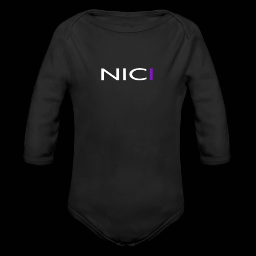 NICI logo WHITE - Vauvan pitkähihainen luomu-body
