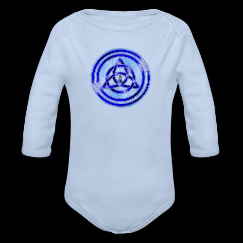 Awen Triqueta Circle - Organic Longsleeve Baby Bodysuit