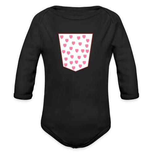 bolsillo - Body orgánico de manga larga para bebé