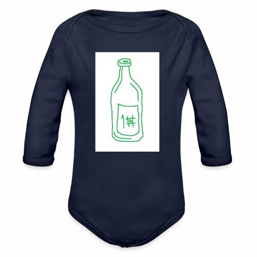 Alkoholi - Vauvan pitkähihainen luomu-body