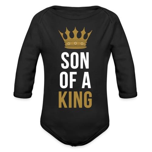 Son of a King Vater Sohn partnerlook - Baby Bio-Langarm-Body