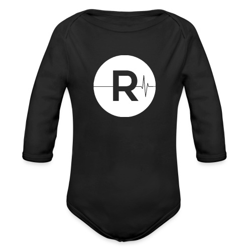 REVIVED Small R (White Logo) - Organic Longsleeve Baby Bodysuit
