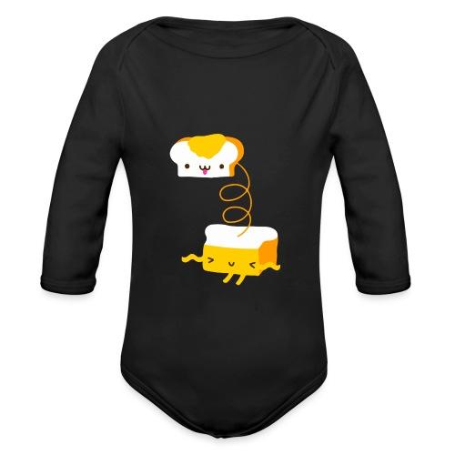 Cat sandwich gatto sandwich - Body ecologico per neonato a manica lunga