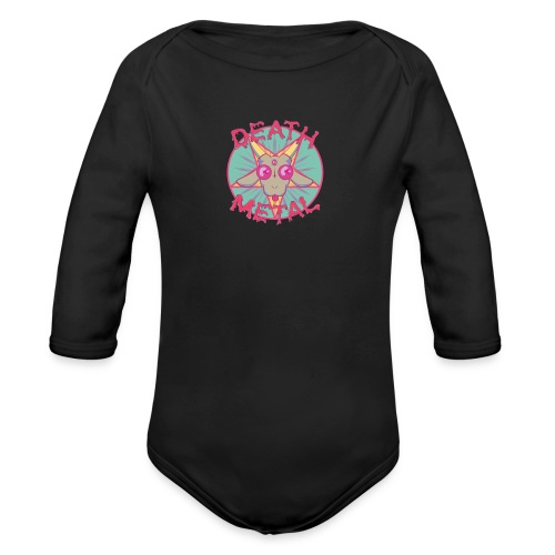 HEAVY METAL PARODY - Organic Longsleeve Baby Bodysuit