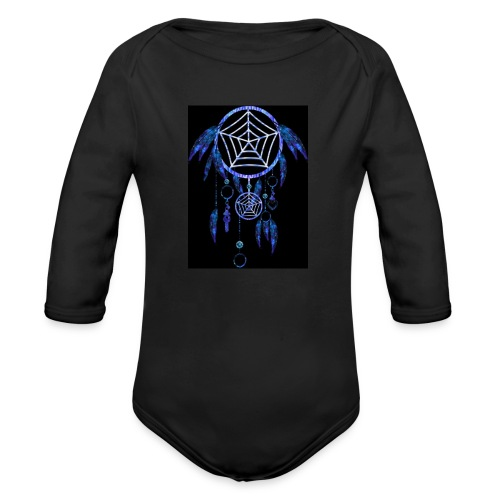 dream catcher thow pillow - Organic Longsleeve Baby Bodysuit