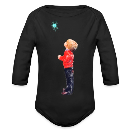 The Boy and the Blue - Organic Longsleeve Baby Bodysuit