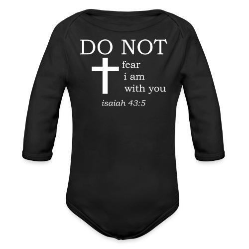 'DO NOT' t-shirt (white) - Organic Longsleeve Baby Bodysuit