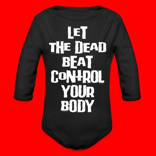 dead beat - Organic Longsleeve Baby Bodysuit