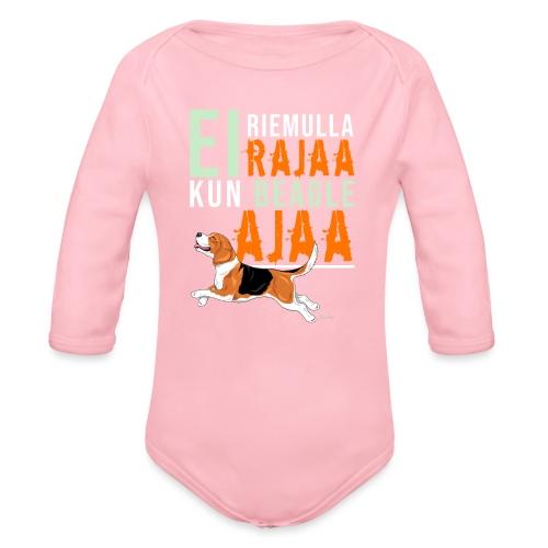Riemulla Rajaa Beagle - Vauvan pitkähihainen luomu-body