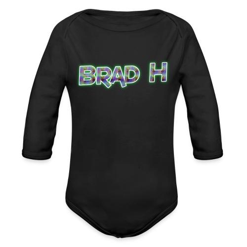 Official Brad H Logo - Organic Longsleeve Baby Bodysuit