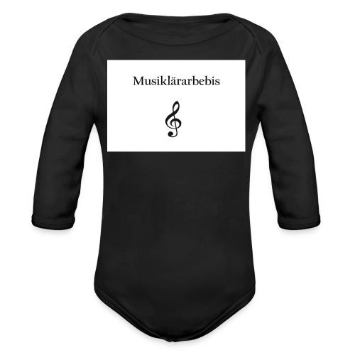 Musiklärarbebis jpg - Ekologisk långärmad babybody