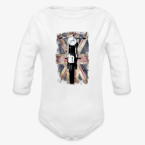 Vintage Motor Cycle BSA feature patjila - Organic Longsleeve Baby Bodysuit