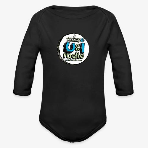 U & I Logo - Organic Longsleeve Baby Bodysuit