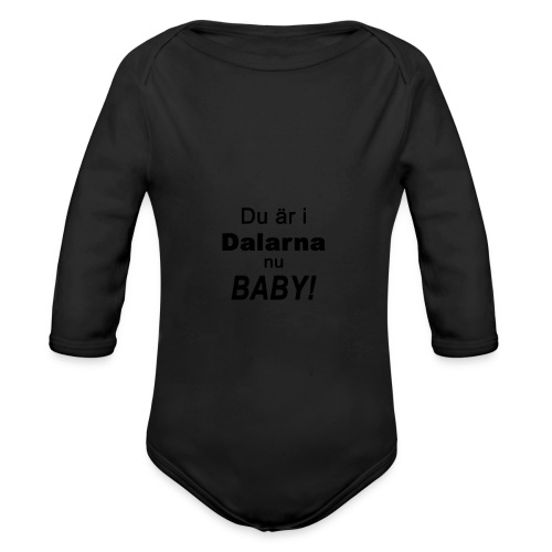 Du är i dalarna nu baby! - Ekologisk långärmad babybody