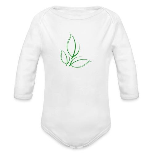 Sustained Sweatshirt Navy - Langærmet babybody, økologisk bomuld