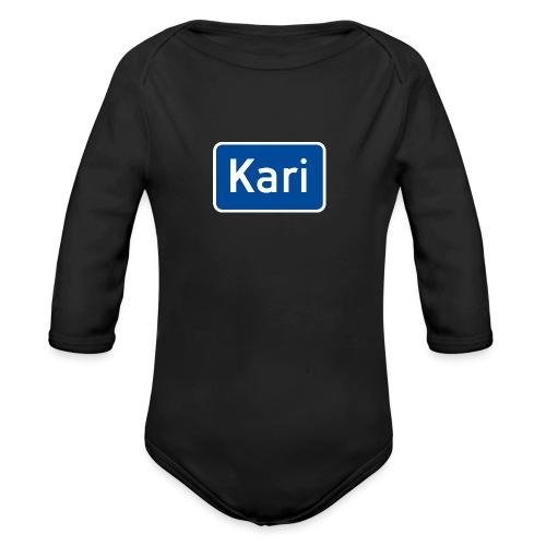 Kari veiskilt (fra Det norske plagg) - Økologisk langermet baby-body