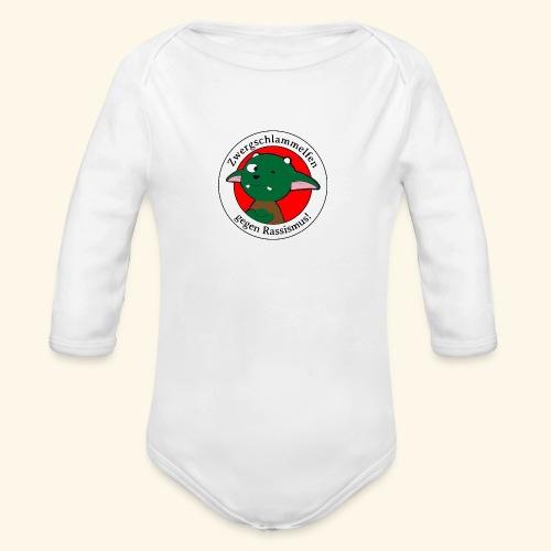 Zwergschlammelfen gegen Rassismus - Baby Bio-Langarm-Body