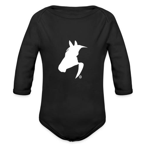 Mensch und Pferd - Baby Bio-Langarm-Body