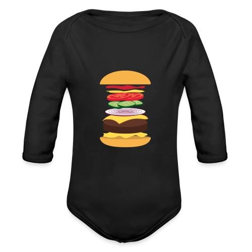 Exploded Burger - Organic Longsleeve Baby Bodysuit