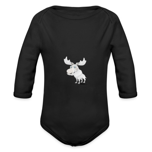 Albino Elch - Baby Bio-Langarm-Body