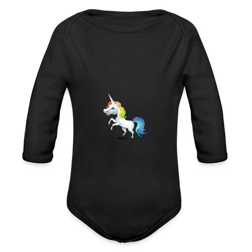Rainbow enhjørning - Økologisk langermet baby-body