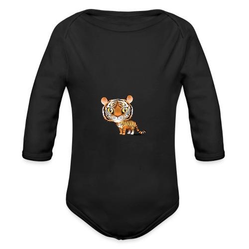 Tijger - Baby bio-rompertje met lange mouwen