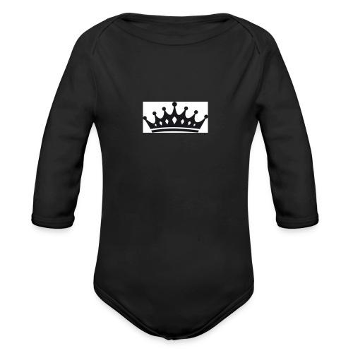 krone-2_einzeln - Baby bio-rompertje met lange mouwen