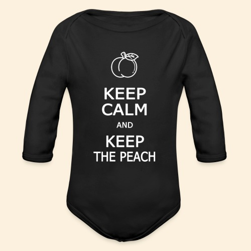 Teddy Keep calm and Keep The Peach - Body Bébé bio manches longues