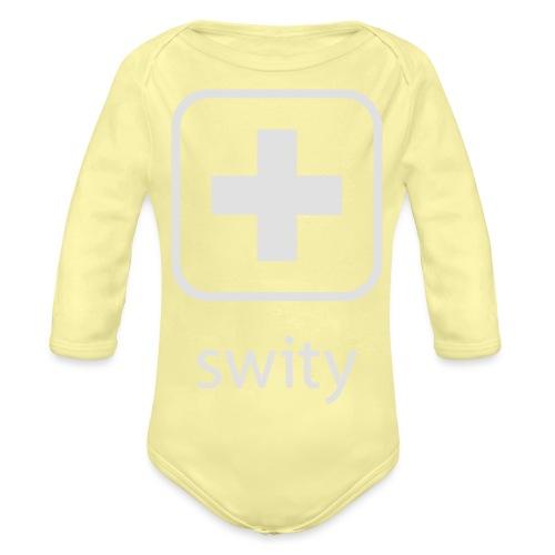 Schweizerkreuz-Kappe (swity) - Baby Bio-Langarm-Body