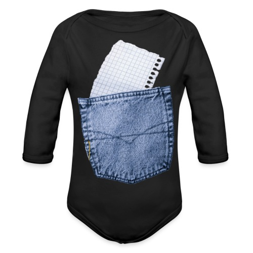 Jeans Baggy by #OneCreativeArts - Baby Bio-Langarm-Body