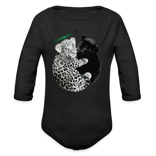 panther-jaguar special edition - Langærmet babybody, økologisk bomuld