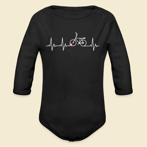 Radball | Heart Monitor White - Baby Bio-Langarm-Body