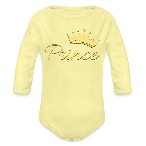 Prince Or -by- T-shirt chic et choc - Body Bébé bio manches longues