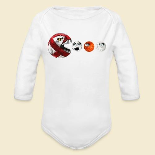 Radball   Cycle Ball RedMan - Baby Bio-Langarm-Body