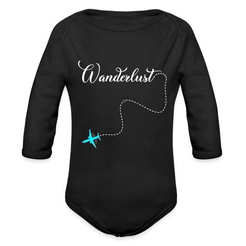 Reisen Weltreise Flugzeug Travelshirt - Baby Bio-Langarm-Body