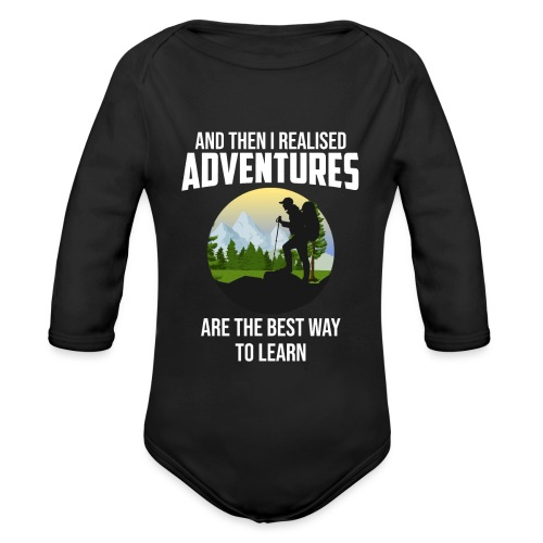 Reisen Weltreise Flugzeug Travelshirt Abenteuer - Baby Bio-Langarm-Body