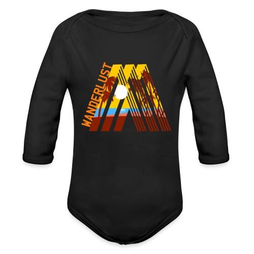 Reisen Weltreise Travelshirt Strand Sonne Palmen - Baby Bio-Langarm-Body
