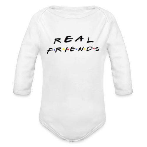 Real freinds - Langærmet babybody, økologisk bomuld